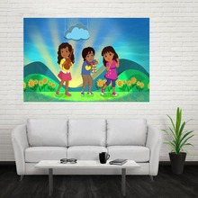 Nice New Dora Diego Poster Custom Canvas Poster Art Home Decoration Cloth Fabric Wall Poster Print Silk Fabric Print