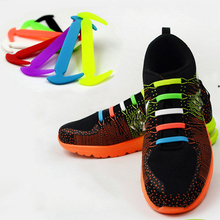 Creative Design Unisex Women Men Athletic Running No Tie Shoelaces Elastic Silicone Shoe Lace All Sneakers 7 Colors Optional(China)