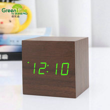 Office Electronic Digital Led Digital Wooden Projection Desk Table Temperature Sounds Control Projector Alarm Clock  CYP-008