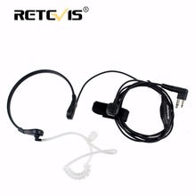 Throat MIC Earpiece 2PIN PTT Headset For Motorola Walkie Talkie GP300 GP308 CP250 PRO1150 P040 CP040 DTR410 SV10 Accessories(China)