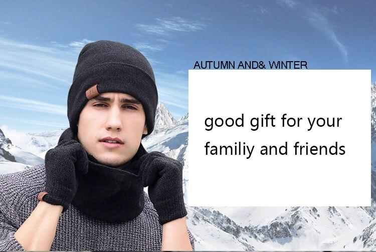 scarf gloves hat set women men winter scarf hat set winter hat scarf and glove set smart touch screen texting gloves set (12)