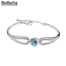 BeBella Must-have heart wing bracelets made with Swarovski Elements for women Mother's gift(China)