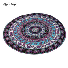 Table Cloth Round 1 PC Beach Pool Home Shower Towel Blanket Table Cloth Yoga Mat 150CM Bohemian Tablecloth Wholesale JA4