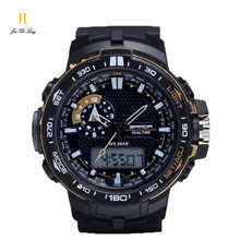 2016 Men Sports Electronic Watches Clock New Three-pin Multifunction Tide Waterproof Alarm Shock Clock Wristwatches Xmas Gift(China)