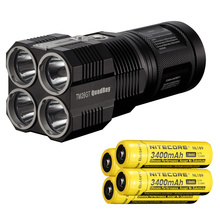 NITECORE Tiny Monster TM26GT 704M Beam Distance 3500Lm LED OLED Display Hunting Torch Flashlight+4*3400mAh BATTERY+Free shipping