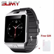 Buy Slimy DZ09 Wristwatch Bluetooth Smart Watch Sport Pedometer SIM TF Card Slot Camera Smartwatch Android IOS Smartphone for $10.99 in AliExpress store