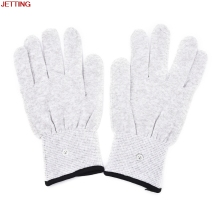 JETTING-1Pair Magic Pulse Massage Gloves Silver Fiber Conductive Electrotherapy Massage Electrode Gloves Use For Tens Machine