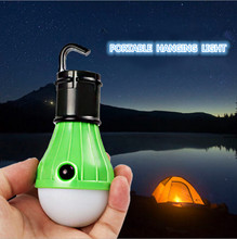 Christmas Party Festival Portable Hanging Hook Light Soft White Light Decorative LED Camping Tent Bulb  3x LED Lamp Torch