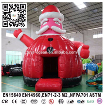 Happy santa clause bouncer,inflatable christmas santa claus ,inflatable air bouncer from China