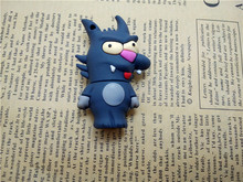 2016 New Fashion Cartoon Wolf Pen Drive USB 2.0 USB Flash Drive Thumb Drive 128MB 256MB 1G 2G 4G-64G pen Drive Memory Card(China)