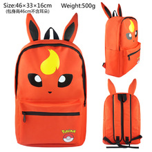 Cute Pokemon monster Eevee various versions cute schoolbags backpack for students nylon backpack ab237-2