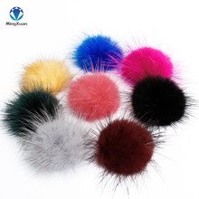 MINGXUAN Mink Fur Ball 100PCS 30MM Fur Pompom DIY Jewelry Findings Mink Ball for shoes jewelry cloth(China)