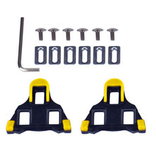2 x Bicycle Bike Self-locking Pedal Cleats Set Yellow For Shimano SM-SH11 SPD-SL 2 Colors Available