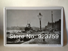 THE BUND OF SHANGHAI,1930s vintage Tin Sign Bar pub home Wall Decoration Retro Metal Art Poster