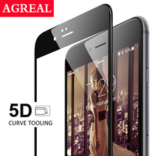AGREAL 5D Tempered Glass Screen Protector Film Case for iPhone 6 6S 6plus 6splus 7 7Plus New Upgrade 4D Curved Edge Full Cover(China)