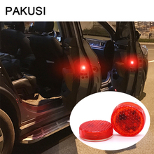 PAKUSI Car LED door light Strobe Light Warning Security For Hyundai i30 Nissan Mini cooper Jeep Ford focus 2 3 Lada Accessories(China)