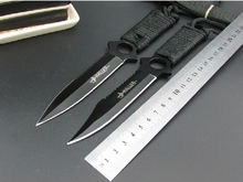 military navajas Diving knife Leggings saber Butterfly fixed knife tactical knife camping tools hunting couteau survival knives(China)