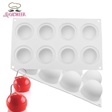 Baycheer Silicone Ball Shape Mold Chocolate Bread Mousse Jelly Baking Molds Specialty Novelty Cake Baking Tool Mould