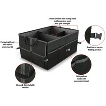 Black Collapsible Car Trunk Organizer Truck Cargo Portable Tools Folding Storage Bag Case Space Saving Auto Boot Organiser(China)