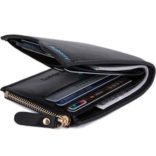 with Coin Bag zipper new 2017  men wallets brand purses male thin wallet passport holder ID Card Case