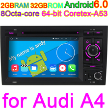 HD 1024*600 Octa Core 2GB RAM Android 6.0 Car Computer For Audi A4 2002-2007 Seat Exeo 2009-2012 Radio GPS Navigation System PC(China)