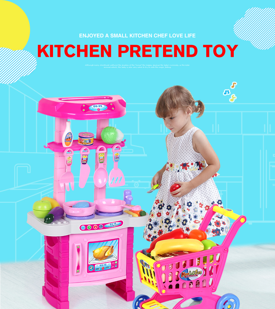 Wholesale- OuGouShou Kids Cooking Play Set Large DIY Model ...
