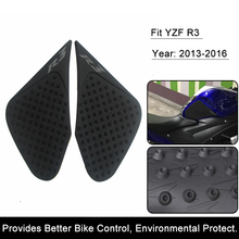 For Yamaha R3 2014 2015 2016 YZF-R3 Motorcycle Anti slip Tank Pad 3M Side Gas Knee Grip Traction Pads Protector Stickers(China)