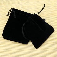 Free Shipping,100pcs/Lot 10x12cm Black Christmas Wedding voile gift bag Velvet Bags Jewelry packing Gift Pouches(China)
