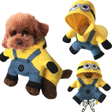 Christmas Funny Minions Dog Clothes Halloween Pet Costume Suit Cartoon Puppy Cat Coat Jacket Despicable Me 2 Soft Cotton Hoodie(China)
