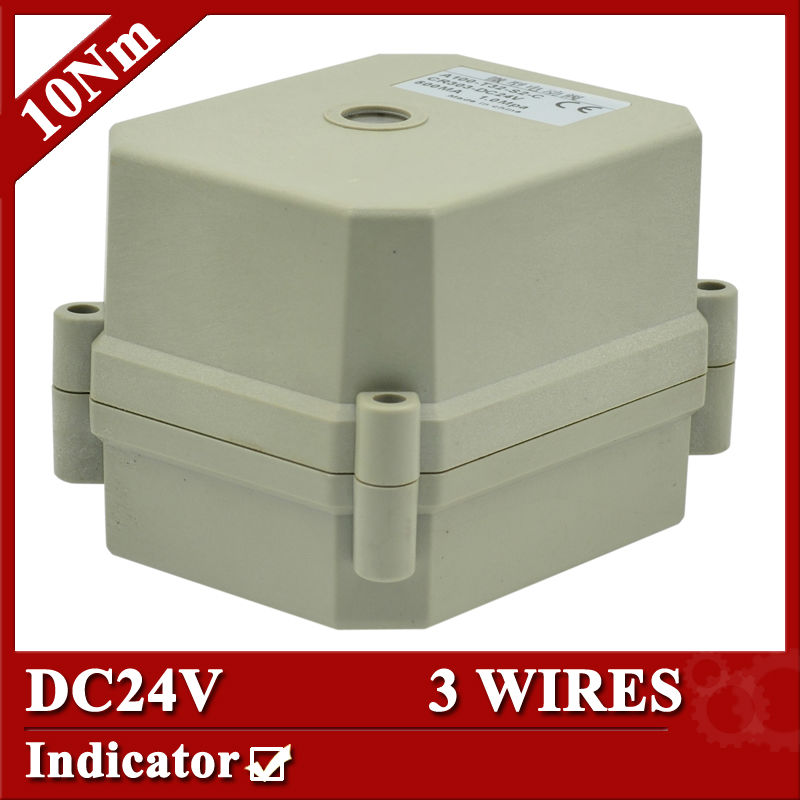 DC24V motorized valve actuator, 3 wires(CR303) , 10Nm, with position indicator<br><br>Aliexpress
