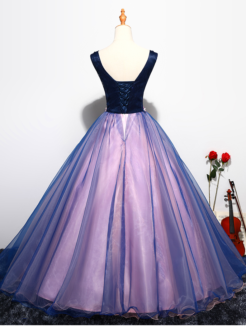 Buy cheap Quinceanera Dress Prom Sleeveless Sexy V-neck Ball Gown online