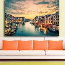Printing Oil Painting Wall Art, Wall Decor, Wall Painting beautiful Venice Italy Sunset Nice Painting for wall picture no frame