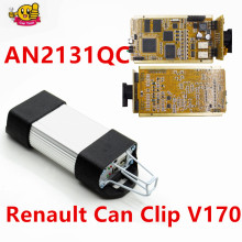 For Renault Clip V169 Gold CAN Clip Full Chips AN2131QC Best For Renault Car Diagnostic Interface(China)