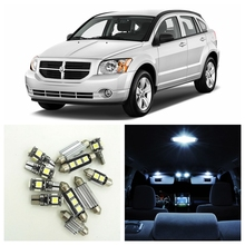 10pcs Canbus Xenon White Car LED Light Bulbs Interior Package Kit For 2007-2012 Dodge Caliber Map Dome Trunk License Plate Lamp(China)