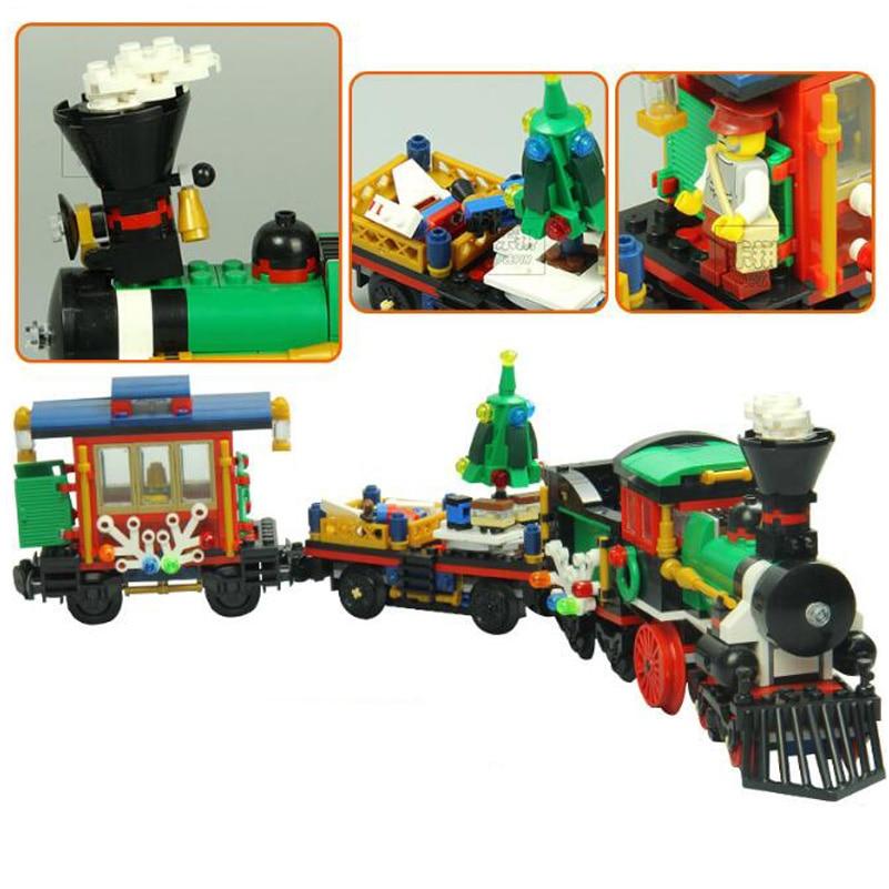 Creative Series Building Blocks Set Lepin Winter Holiday Train Model 770pcs Bricks Compatible Toys For Children Christmas 36001<br>