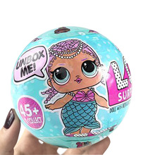 lol original 9.5cm LOL Surprise Doll Magic Funny Removable Egg Ball Doll Toy Educational Novelty Kids Unpacking Surprise Dolls(China)