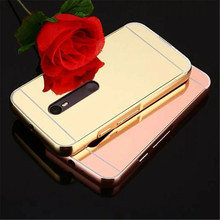 For Motorola Moto X Play X Style Moto M Case High Quality Luxury Electroplating Mirror Aluminum Frame + Hard PC cases cover