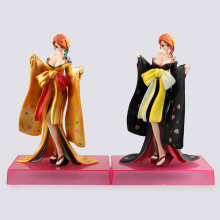 SAINTGI One Piece Nami Kimono Kabuki Luffy VAH HEROES New World Anime Figuarts Sanji Trafalgar PVC 20.5CM Boxed Limit Garage Toy