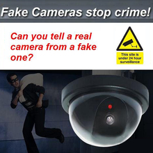 Dome Dummy Security CCTV Cameras flash Blinking red LED Fake camera Security Simulated video Surveillance Deter Robbery !!(China)