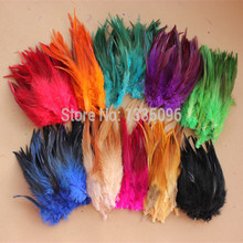 Free Shipping! Hot sale 200pcs/lot Color 4-6'' 9-15cm ROOSTER SADDLE CAPE CRAFT FEATHER for sinamay hat/party mask(China)