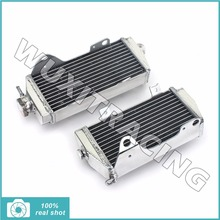 2pcs Left Right Aluminium Alloy Core MX Offroad Motorcycle Radiators Cooler Cooling x 2 for HONDA CRF450R CRF 450 R 13 2013