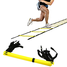 New Black Yellow Color Durable Agility Ladder For Soccer Speed Outdoor Training Fitness Equipment Wholesale 1 Set(China)
