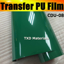 Cutter plotter Garment transfer pu film with free shipping 50CMX25M/ROLL CDU-08 GREEN COLOR(China)