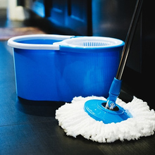 Practical House Cleaning Mops 360 Degree Rotating Spin Mop Bucket 2 Microfiber Heads Spinning Easy Magic Mops Set Hot Sale