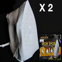 Iron Shoe Cover Wonder Shield Teflon Ironing Aid Board Protect Fabrics Cloth Heat Without Scorching 2pcs Pack White CMB1-HD0061