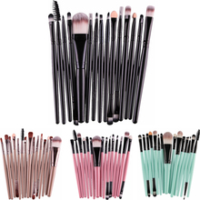 15pcs Makeup brushes Professional Eyebrow Blusher Lip Powder Foundation Eyeshadow Eyeliner Cosmetic Make up Brush Set Maquiagem(China)