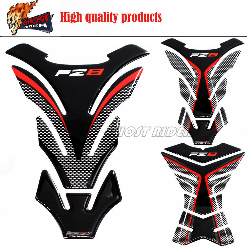 3d universal motorcycle tank pad protector decal stickers case for yamaha fz8 fazer fz 8 tank