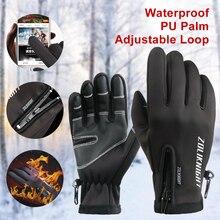 Winter Bicycle Gloves Cycling thermal gloves men Windproof Warm Fleece Gloves bike Anti-slip Water Resistant mtb gloves