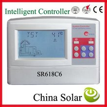 Solar water heating system controller SR618C6 model,send you manual .12 system,including swimming pool heating system controller
