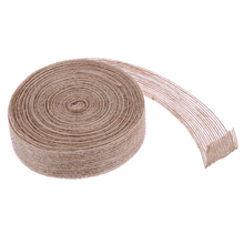 Buy 10 Meters Jute Ribbon Roll Burlap Fabric Wedding Flower Wrapping Burlap Ribbon Hessian DIY Wedding Party Decor Craft Supply for $1.91 in AliExpress store